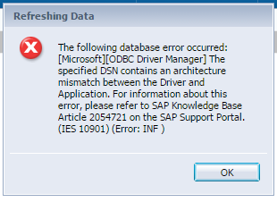 DCLUSTDB Hata___32 ve 64 bitlik odbc tanımlamasıyla hata giderildi.PNG